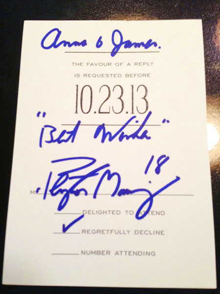 peyton manning will apparently rsvp to your wedding invitation