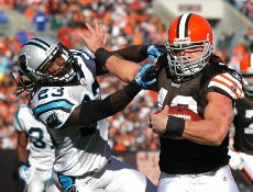 P. Hillis suprisingly has won the Madden 12 cover (Getty).