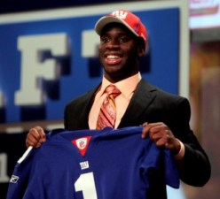 P. Amukamara was surprised to see New York take him in the draft (US Presswire).