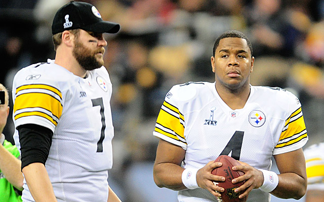 Ben Roethlisberger and Byron Leftwich (US Presswire)