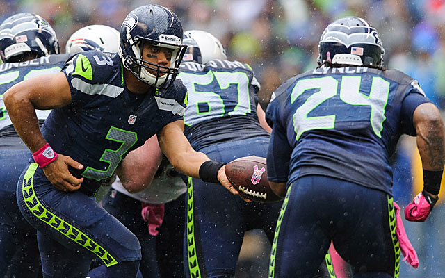 Russell Wilson and Marshawn Lynch (US Presswire)