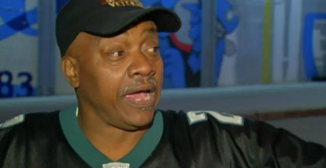 Sonny Forriest Jr. was the man whose prosthetic leg was stolen before the Eagles game. (NBC Philadelphia)
