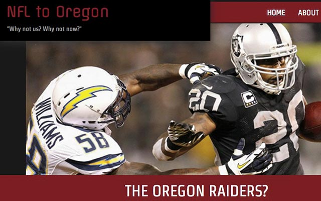 Could the Raiders relocate to Portland(ia)?. (NFLtoPortland.com)