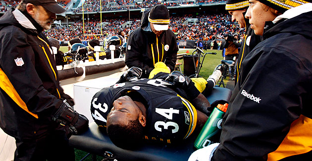 Steelers RB Rashard Mendenhall offers split ACL. rashard-mendenhall-acl