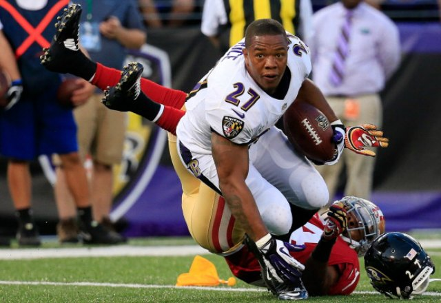 Ray Rice heard plenty of cheers Thursday. (Getty Images)