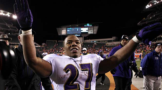 Ray Rice says he didn't spit on Phil Taylor. (USATSI)
