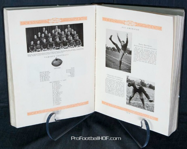 The 1925 college yearbook of Red Grange. (Pro Football Hall of Fame)