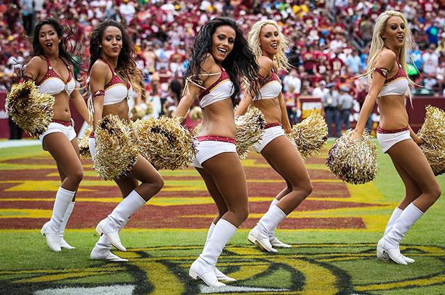 The Redskins cheerleaders perform during a home game last season. (USATSI)