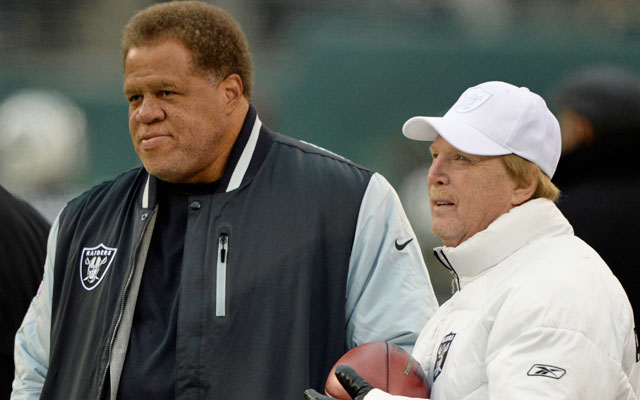 Oakland GM Reggie McKenzie will have more cap space to use than anybody this offseason. (USATSI)