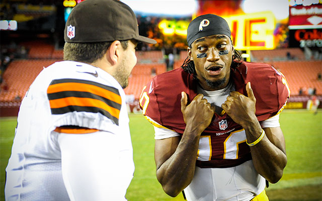 RG3 is happy to be the latest Cleveland franchise QB. (USATSI)