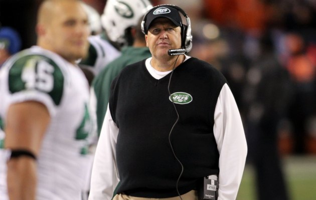 Rex Ryan's decision to call an all-out blitz late was a bad one (US Presswire).