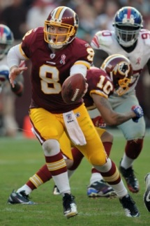 R. Grossman led Washington to victory against the NYG (AP).