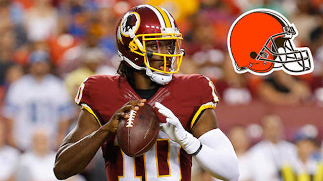 Will RG3 be the Browns Week 1 starter? (USATSI/CBSSports.com)