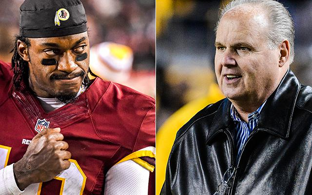 Rush Limbaugh has some thoughts on RG3. (Getty Images)