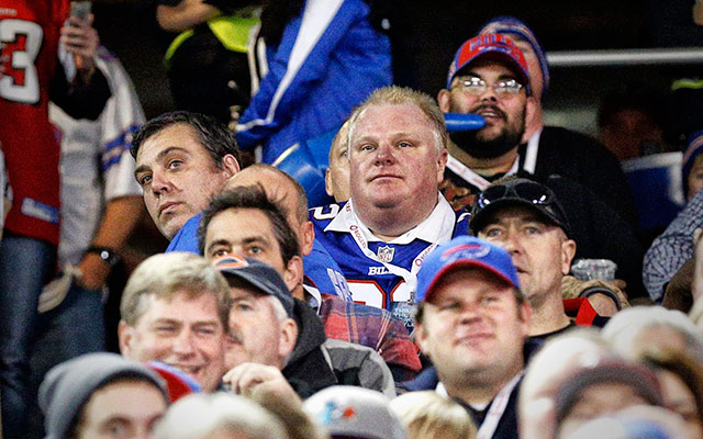 Rob Ford took in an NFL game last weekend. (USATSI)