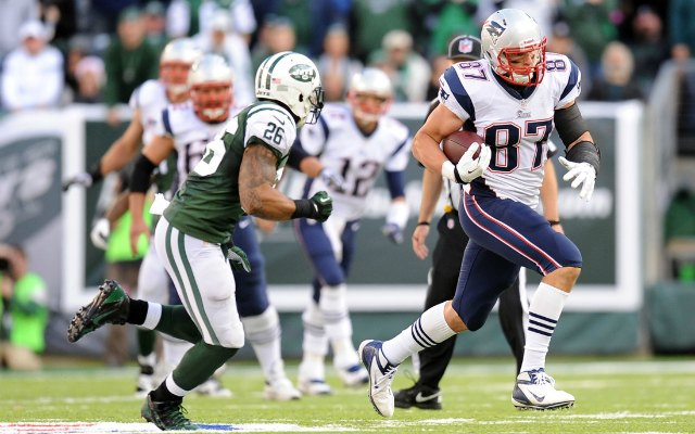 Rob Gronkowski caught eight passes for 114 yards on Sunday. (USATSI)