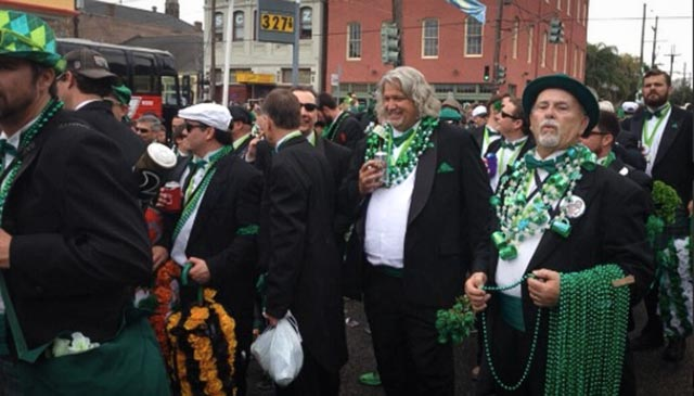 Rob Ryan has begun his St. Patrick's Day celebrating. (via @garlandgillen's Twitter feed)