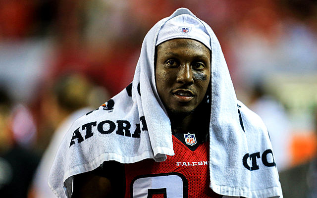Roddy White has a lingering ankle sprain issue. (USATSI)