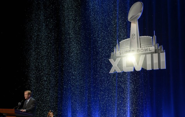 Fake snow fell as Roger Goodell gave his State of the NFL speech Friday. (USATSI)