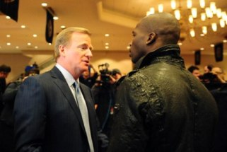 Roger Goodell and C. Ochocinco had a phone call Thursday (US Presswire).