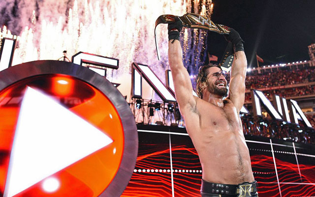 Seth Rollins walked out of WrestleMania 31 with the title and WWE's future in his hands. (WWE)