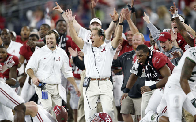 Nick Saban has led the proliferation of support staffs in college football. (USATSI)