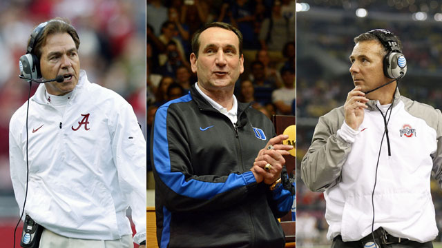 Three of the most influential coaches in college sports. (USATSI)