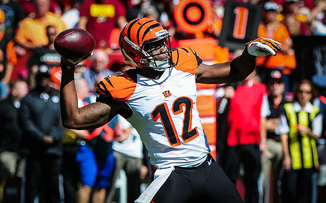 WR Mohamed Sanu served as Bengals kicker during practice this week