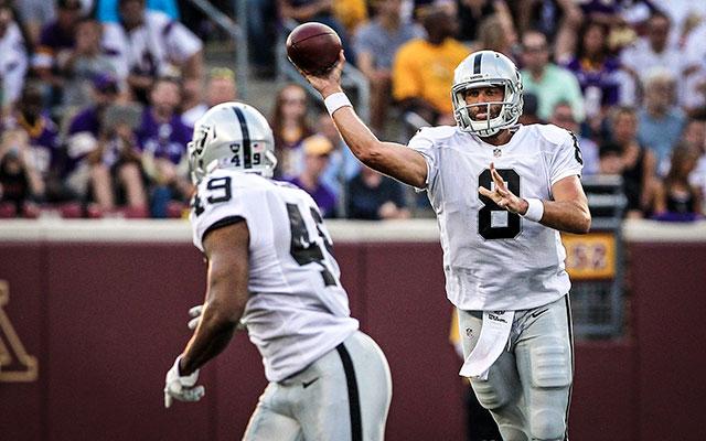 Matt Schaub and the Raiders struggled against the Vikings. (USATSI)
