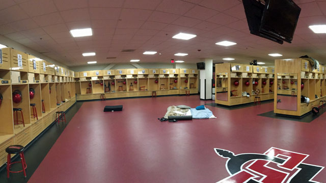 Oregon State University Locker Room