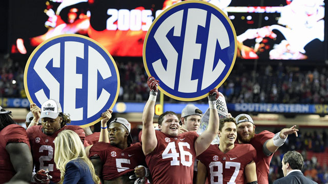 Alabama and the SEC find plenty of financial success off the field. (USATSI)