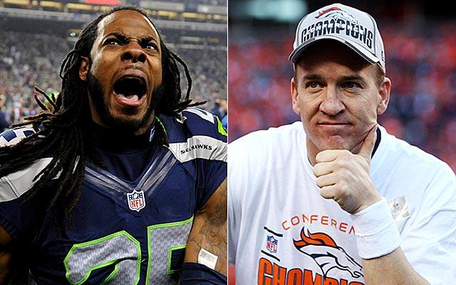 It's Peyton Manning vs. Richard Sherman. (USATSI)