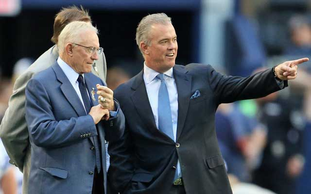 Stephen Jones (right) is on the NFL's competition committee.