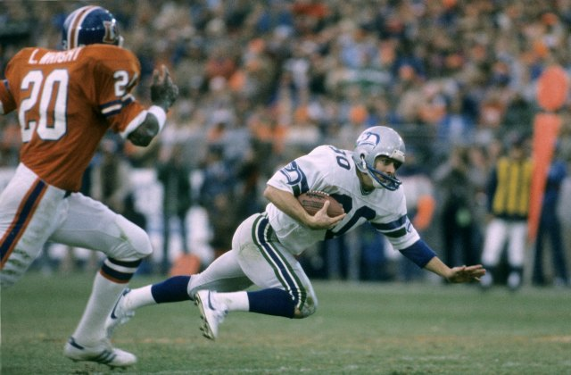 Steve Largent caught 74 passes for 1,184 yards and a career-high 12 touchdowns. (Getty Images)