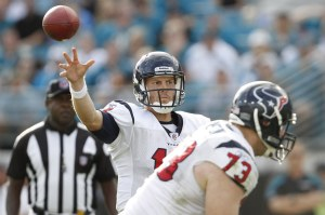 T. Yates looks to be Houston's starting quarterback for the foreseeable future (US Presswire).