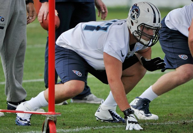 Taylor Lewan is competing for the right tackle job. (USATSI)