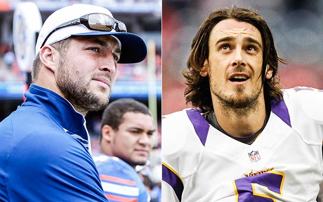 Chris Kluwe thinks the 'other stuff' kept him and Tim Tebow out of the NFL. (USATSI)
