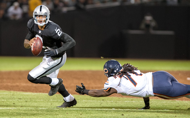 Terrelle Pryor lasted just three seasons in Oakland. (USATSI)