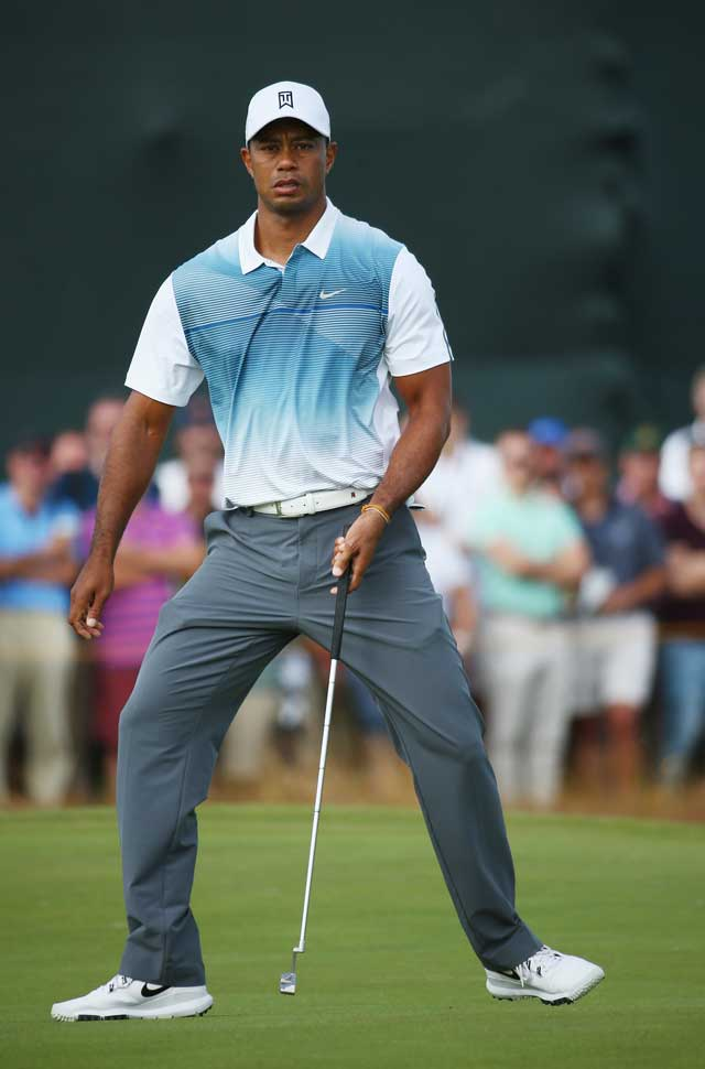 Tiger was looking limber throughout Round 1.