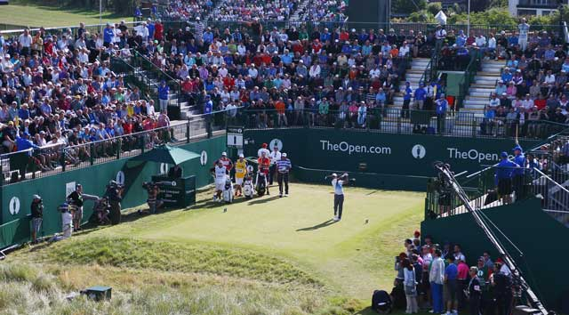 Where it all began for Tiger at the British Open Thursday morning.