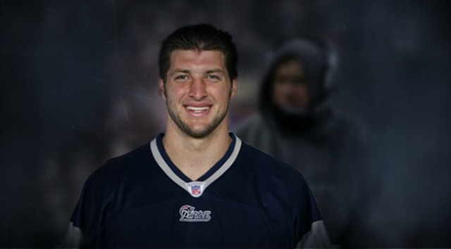 Here's what Tim Tebow will look like in a New England uniform. (CBSSports.com)