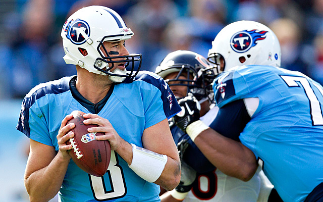 Hasselbeck spent two seasons in Tennessee. (Getty Images)