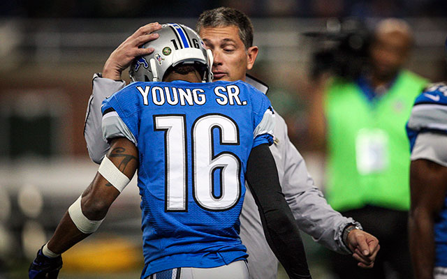 The Lions released Titus Young after the 2012 season. (USATSI)