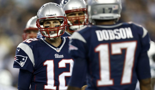 Tom Brady wasn't so happy with Aaron Dobson. (USATSI)