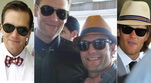 Brady (and Welker) at the Derby. (TheBigLead.com/BostonHerald/Getty)