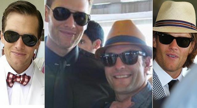 Brady (and Welker) at the Derby. (TheBigLead.com/BostonHerald/Getty)