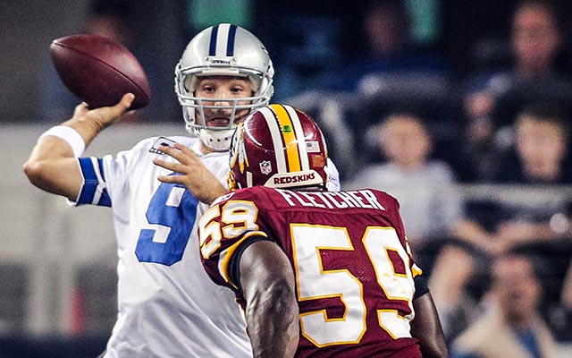 Newly retired Redskins LB London Fletcher calls Tony Romo a choker. (USATSI)