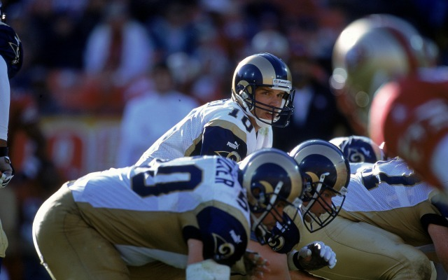 Trent Green was injured in the 1999 preseason. (Getty Images)