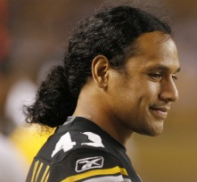 T. Polamalu was fined $10,000 for using a cell phone on the sideline (US Presswire).
