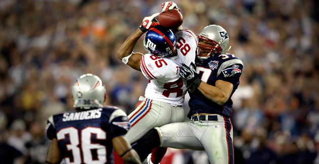 David Tyree's helmet catch spoiled the Patriots' perfect season. (USATSI)